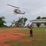 Вертолет на земле Стоковое Изображение RF