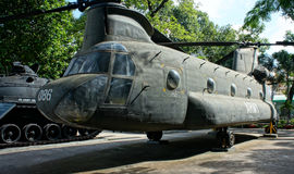 Вертолет на музее обмылков войны Стоковые Изображения