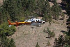 Вертолет огня стоковое изображение rf
