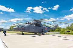 Вертолет перехода Mil Mi-26 русский тяжелый Стоковые Изображения RF