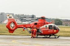 Вертолет румынского спасения медицинский стоковые изображения rf