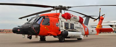 Вертолет спасения службы береговой охраны MH-60 Jayhawk Стоковые Фото