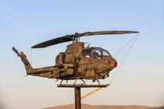 Вертолет AH-1Cobra на ветеранах Стоковое Фото