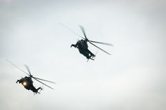 Вертолет Mi-24 задний Стоковое Фото