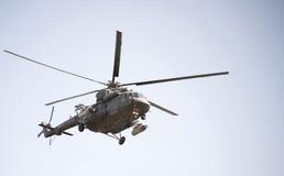 Вертолет Mi-8 на событии для семидесятой годовщины победы Стоковое фото RF