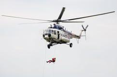 Вертолет Mil Mi-17 на airshow Стоковое фото RF