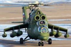 Вертолет Mil Mi-35MS русской военновоздушной силы на Panki airfiled Стоковое Изображение