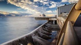 Вертодром с морем и небом Стоковые Фотографии RF