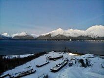 Верфь Аляски в зиме стоковое фото