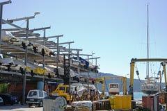 Верфь корабля, промышленный порт Стоковое Изображение