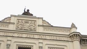 Верхнее баварское правительство района в Мюнхене, Германии Горизонтальная панорама видеоматериал