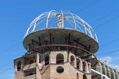 Верхнее незаконченное кирпичное здание стоковая фотография rf