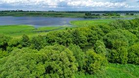 Верхнее viev пруда в центральном районе в России стоковое изображение rf