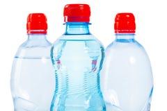 3 верхней части бутылок воды Стоковое фото RF