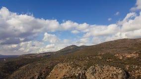 Верхние горы ландшафт Галилеи, Голанские высоты взгляда природы от Nimrod Концепция: откройте назначение перемещения Стоковые Фотографии RF