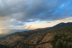 Верхние горы ландшафт Галилеи, Голанские высоты взгляда природы от Nimrod Концепция: откройте назначение перемещения Стоковое Фото