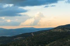 Верхние горы ландшафт Галилеи, Голанские высоты взгляда природы от Nimrod Концепция: откройте назначение перемещения Стоковые Изображения