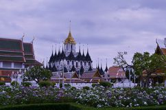 Верхние пагода и облако Стоковое Изображение