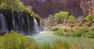 Верхние падения Навахо - ресервирование Havasupai Стоковые Фото