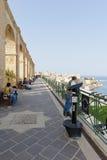 Верхние сады Barrakka, Мальта Стоковые Изображения RF