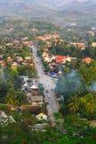 Верхние точка зрения и ландшафт в prabang luang Стоковое Изображение