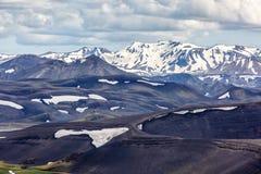 Верхние части гор в Исландии Стоковые Фото