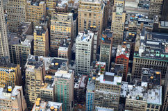 Верхние части крыши зданий Манхаттана от Имперского штата Стоковая Фотография RF