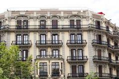 Верхние этажи жилого дома в Барселоне Стоковое фото RF