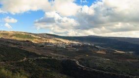 Верхний ландшафт гор Галилеи Стоковые Изображения RF