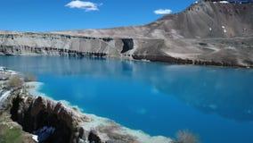 Верхний ареальный наклон голубого таза озера сток-видео