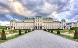 Верхний бельведер, вена, Австрия стоковое изображение