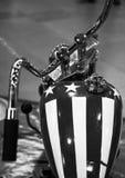 Верхний взгляд винтажного мотоцикла Стоковая Фотография