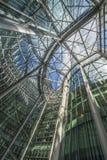 Верхний взгляд внутри небоскреба CityPoint, Лондон Великобритания Стоковое Изображение RF