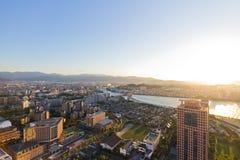 Верхний вид на город на Фукуоке Стоковая Фотография