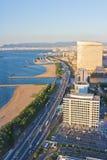 Верхний вид на город на Фукуоке Стоковые Изображения