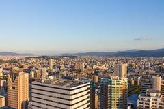 Верхний вид на город на Фукуоке Стоковое Фото
