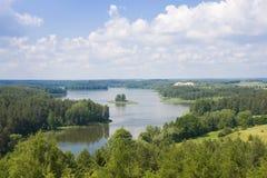 Верхний вид на озеро Стоковые Фото