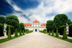 Верхний замок бельведера в вене стоковые фото