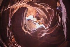 Верхний каньон антилопы на национальном парке антилопы Стоковая Фотография
