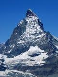 Верхний пик Маттерхорна в Швейцарии Стоковая Фотография