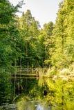 Верхний пруд, Kytayiv, Киев Стоковые Фотографии RF