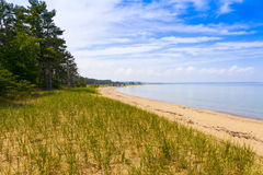 Верхний пляж полуострова Стоковые Изображения RF