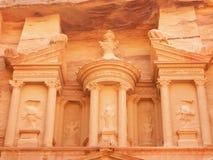Верхний уровень казначейства в Petra, Джордан Стоковое Фото