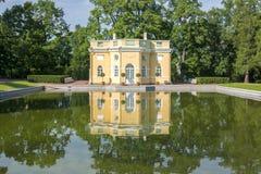Верхняя ванна в Tsarskoe Selo в лете, Санкт-Петербурге, России Стоковая Фотография