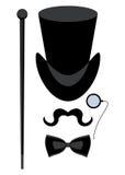 Верхняя изолированная шляпа иллюстрация штока