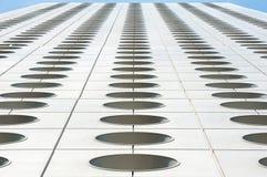 Верхняя перспектива отличительных круговых окон дома Jardine, Гонконга Стоковое Фото