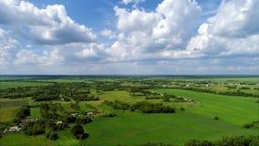 Верхняя сельская местность viev зоны Lipetsk в России стоковое изображение rf