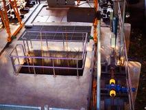 Верхняя система обработки сточных вод перспективы Стоковая Фотография