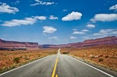 Верхняя трасса Колорадо сценарная около Moab Стоковое Изображение