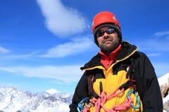 верхняя часть альпиниста Стоковое Изображение RF